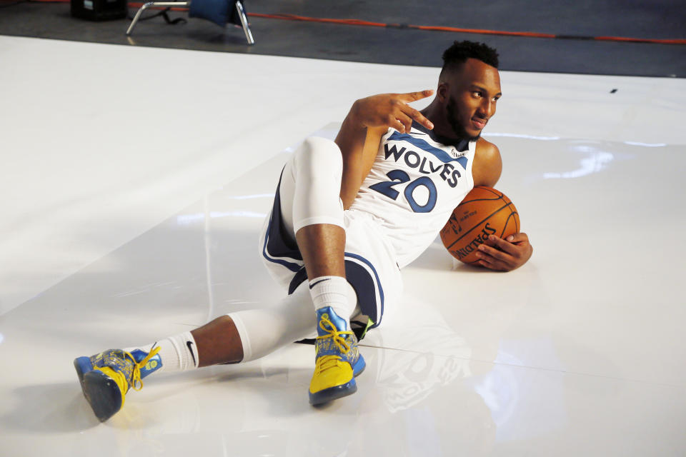 """""""Oh, you want blue steel? I'll give you blue steel."""" — Josh Okogie, most definitely"""