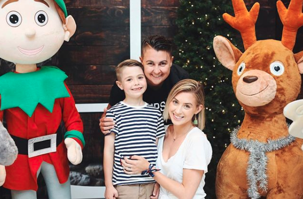 Alex, Maegan and Elijah all looking happy together at Christmas time. Source: Instagram / alexandranation