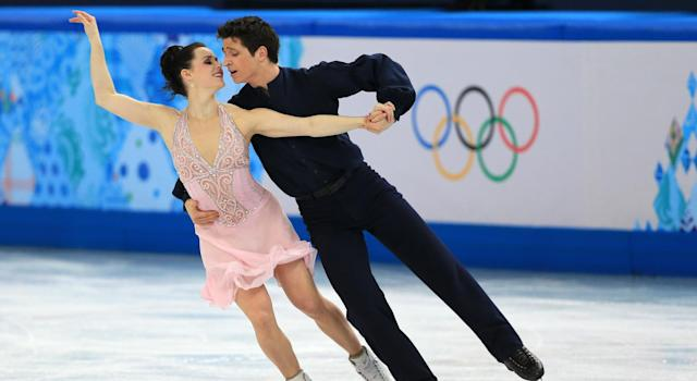 Tessa Virtue and Scott Moir competing in Sochi (Getty Images)