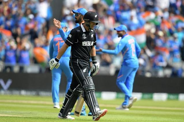 New Zealand's Ross Taylor top-scored with 74 against India in the World Cup semi-finals (AFP Photo/Dibyangshu Sarkar)