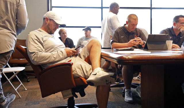 Texas Longhorns head coach Tom Herman during a meeting Wednesday Sept. 4, 2019 in Austin, Tx. ( Photo by Edward A. Ornelas )