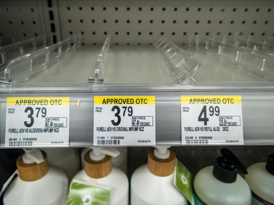 urell Hand Sanitizer sold out completely on store she