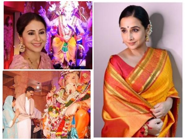 Pictures shared by Bollywood stars on Ganesh Chaturthi (Image courtesy: Twitter)