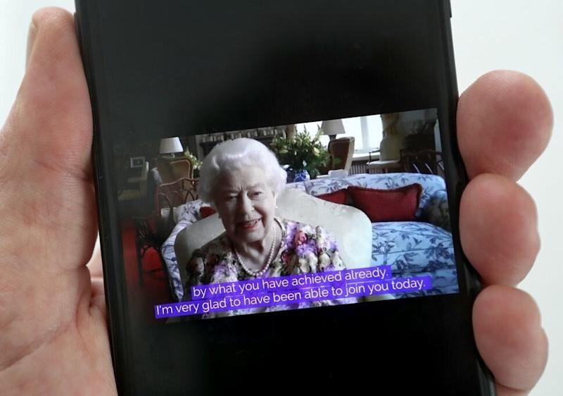 Queen Elizabeth speaks to carers via video call to mark Carers Week 2020 on June 11. (Photo: CHRIS JACKSON VIA GETTY IMAGES)