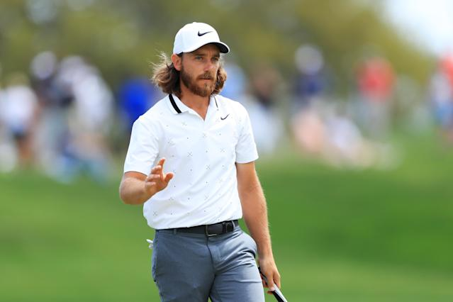 "<h1 class=""title"">The PLAYERS Championship - Round One</h1> <div class=""caption""> PONTE VEDRA BEACH, FLORIDA - MARCH 14: Tommy Fleetwood of England reacts after a putt on the ninth green during the first round of The PLAYERS Championship on The Stadium Course at TPC Sawgrass on March 14, 2019 in Ponte Vedra Beach, Florida. (Photo by Sam Greenwood/Getty Images) </div> <cite class=""credit"">Sam Greenwood</cite>"