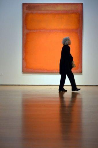 """""""Orange, Red, Yellow"""", a sunset-colored painting by Mark Rothko"""