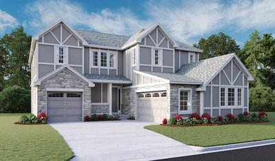 Richmond American's Daley plan at Blacktail at The Meadows in Castle Rock offers abundant curb appeal.