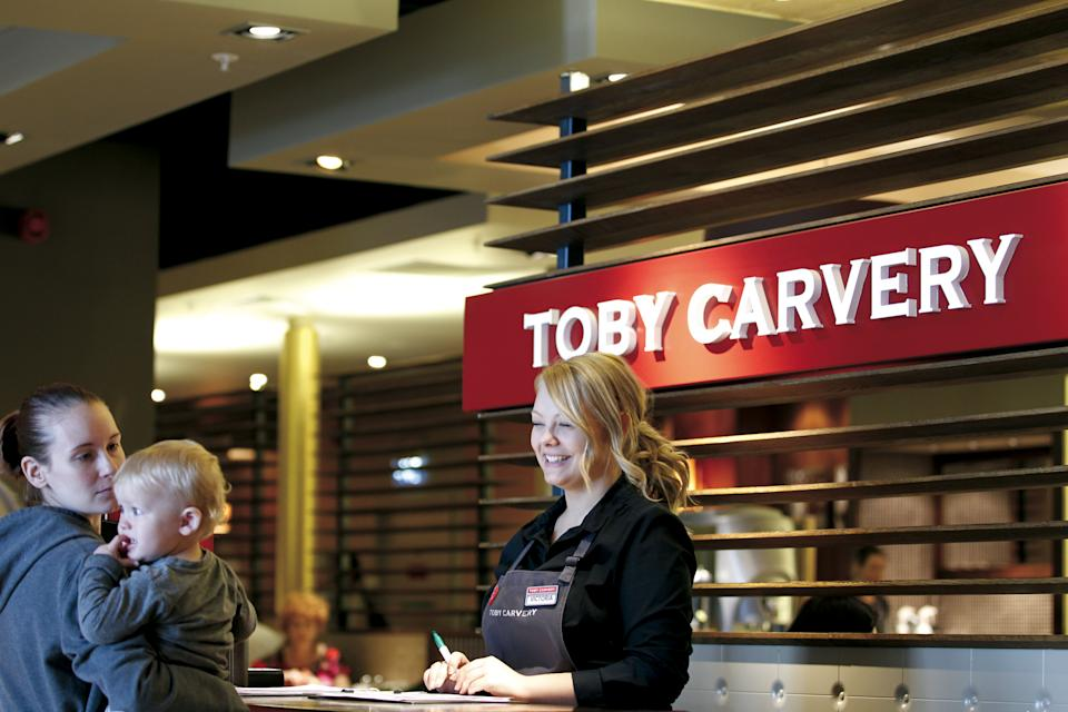 Mitchells & Butlers owns brands including Toby Carvery and Harvester (Mitchells & Butlers/PA)