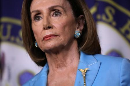 Speaker of the House Nancy Pelosi holds a news conference at the U.S. Capitol in Washington