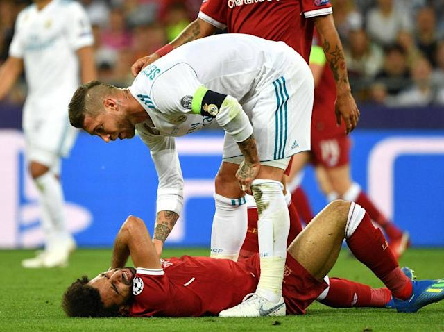 Ramos has revealed he and Salah have spoken since the incident (Getty )