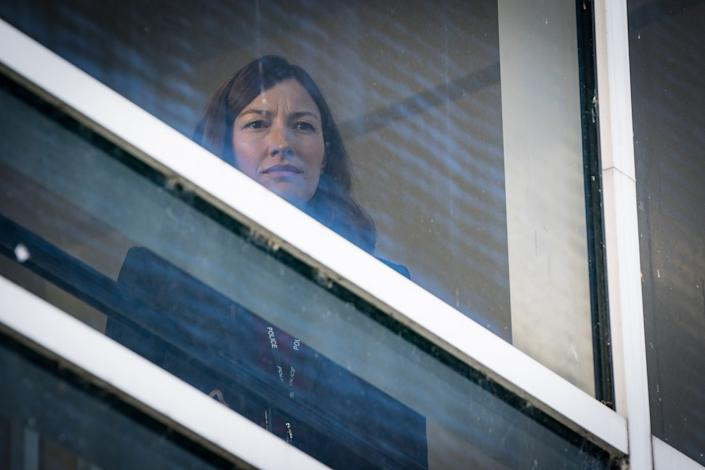 WARNING: Embargoed for publication until 00:00:01 on 30/03/2021 - Programme Name: Line of Duty S6 - TX: n/a - Episode: Line Of Duty - Ep 3 (No. n/a) - Picture Shows:  DCI Joanne Davidson (KELLY MACDONALD) - (C) World Productions - Photographer: Steffan Hill