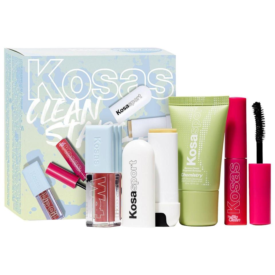 """<p><strong>Kosas</strong></p><p>sephora.com</p><p><strong>$29.00</strong></p><p><a href=""""https://go.redirectingat.com?id=74968X1596630&url=https%3A%2F%2Fwww.sephora.com%2Fproduct%2Fkosas-mini-clean-start-set-full-face-bestseller-edition-P471251&sref=https%3A%2F%2Fwww.cosmopolitan.com%2Ffood-cocktails%2Fg36163295%2Fvegan-gift-ideas%2F"""" rel=""""nofollow noopener"""" target=""""_blank"""" data-ylk=""""slk:SHOP NOW"""" class=""""link rapid-noclick-resp"""">SHOP NOW</a></p><p>A vegan makeup set that has all the main products to create a full-beat face for under $30? A. DREAM.</p>"""