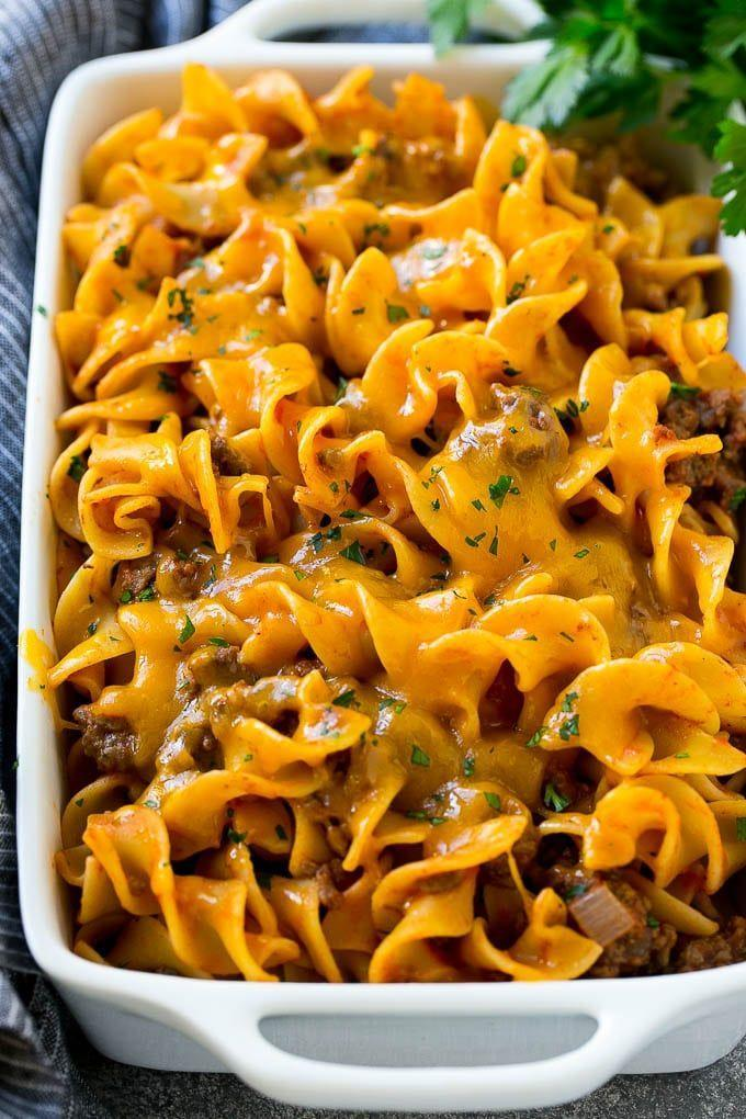 """<p>Once you try this meaty meal, prepare to be making it on repeat. It's a kid-approved dish the adults will also enjoy. </p><p><strong>Get the recipe at <a href=""""https://www.dinneratthezoo.com/beef-noodle-casserole/"""" rel=""""nofollow noopener"""" target=""""_blank"""" data-ylk=""""slk:Dinner at the Zoo"""" class=""""link rapid-noclick-resp"""">Dinner at the Zoo</a>.</strong></p><p><strong><strong><a class=""""link rapid-noclick-resp"""" href=""""https://www.amazon.com/Bakeware-Krokori-Rectangular-Aquamarine-Rectangula/dp/B074Z5X8MT/?tag=syn-yahoo-20&ascsubtag=%5Bartid%7C10050.g.3726%5Bsrc%7Cyahoo-us"""" rel=""""nofollow noopener"""" target=""""_blank"""" data-ylk=""""slk:SHOP BAKING DISHES"""">SHOP BAKING DISHES</a></strong><br></strong></p>"""