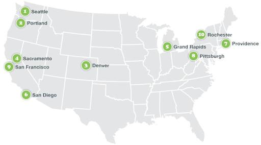 Study Seattle Tops Portland As Most Hipster City In Us - Portland-on-us-map