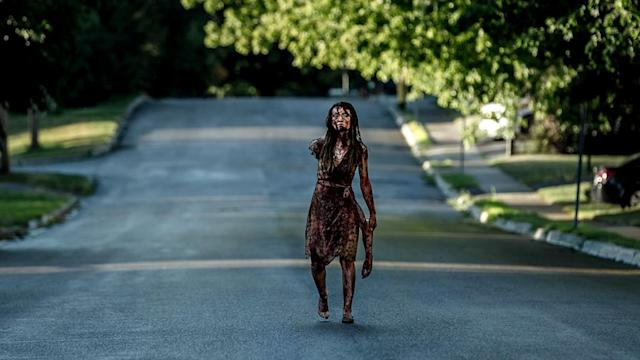 <p>Emily Browning as Laura Moon in Starz' <i>American Gods</i>.<br><br>(Photo: Starz) </p>