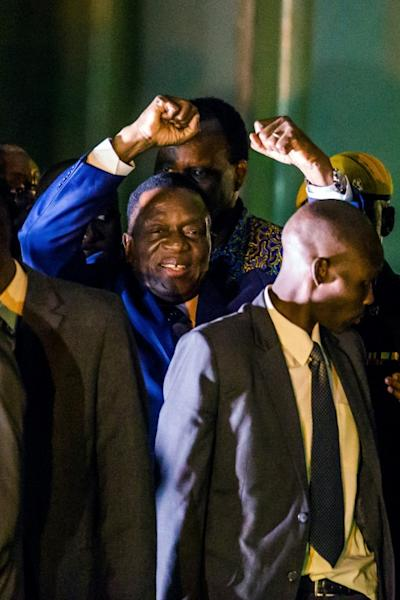 It was a triumphant return for Emmerson Mnangagwa who had fled Zimbabwe two week's earlier after his sacking by Robert Mugabe