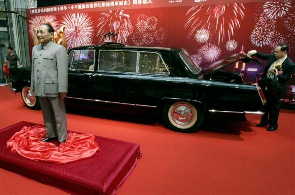A wax figure of Deng Xiaoping, the late Chinese leader, is exhibited at a shopping mall in Hong Kong June 28, 2007.