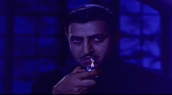 In one of his most menacing performances, Pran plays the brother-in-law from hell: the greedy Gajendra bent on usurping his wife's brother's inheritence. Pran shines in portraying all hues of Gajendra's devilishness: his greed, treachery, cruelty, and even murderousness.