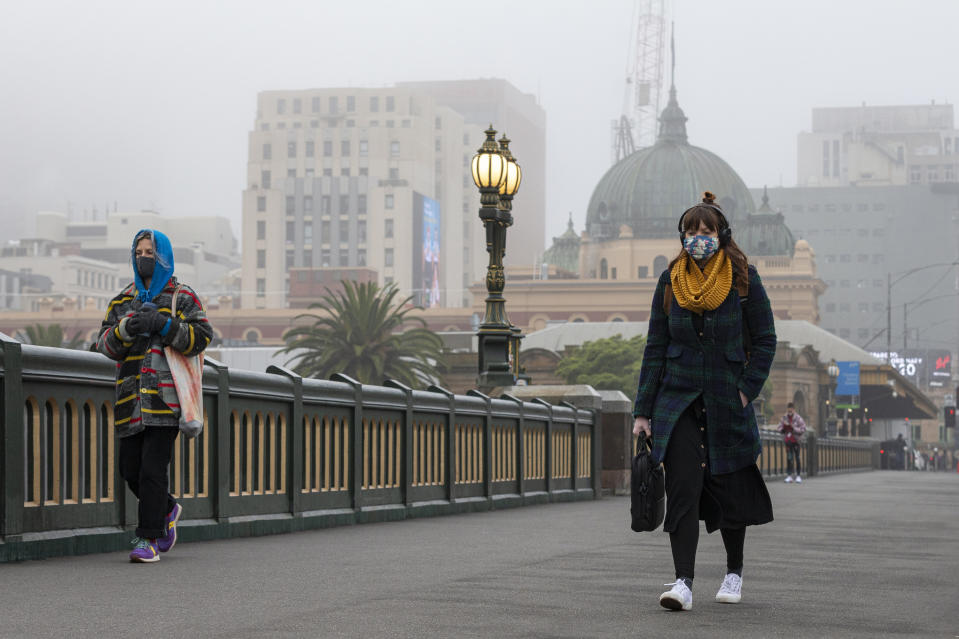 Masks or face coverings will be compulsory from Thursday in Melbourne. Source: AAP