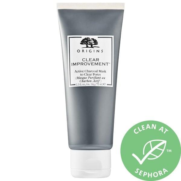 <p>When my skin is acting up, I reach for this <span>Origins Clear Improvement Active Charcoal Mask to Clear Pores</span> ($26). It's a potent clay mask that helps clear my pores, but it still feels relatively gentle on my sensitive skin.</p>