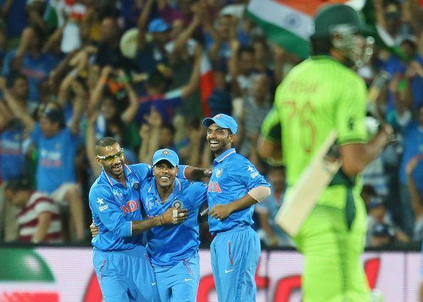 India v Pakistan - 2015 ICC Cricket World Cup- It was all smiles for the Indians as they convincingly beat Pakistan by 76 runs.