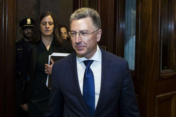 PHOTO: Former Special Envoy to Ukraine Kurt Volker departs following a closed-door deposition led by the House Intelligence Committee on Capitol Hill, Oct. 3, 2019, in Washington, DC. (Zach Gibson/Getty Images)