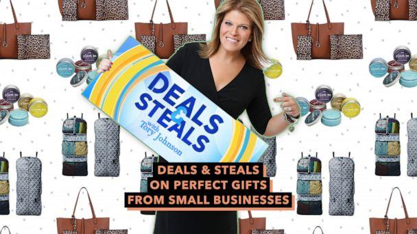 PHOTO: Deals & Steals on perfect gifts from small businesses (ABC News Photo Illustration, Malibu Skye, Pinch Me, RuMe)