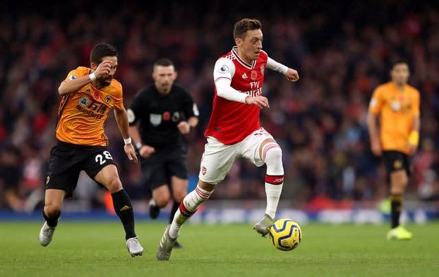 Amnesty International have praised Arsenal's Mesut Ozil for speaking out about the alleged mistreatment of Uighur Muslims in China (Paul Harding/PA Images).