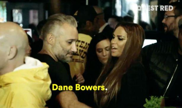 Dane Bowers and Katie Price bumped into each other in a nightclub (Credit: Quest Red TV)