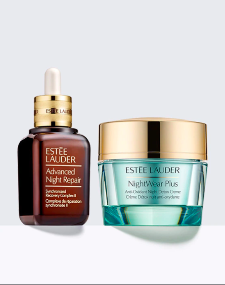 Estée Lauder 'Protect + Hydrate Nightime Power Couple'.