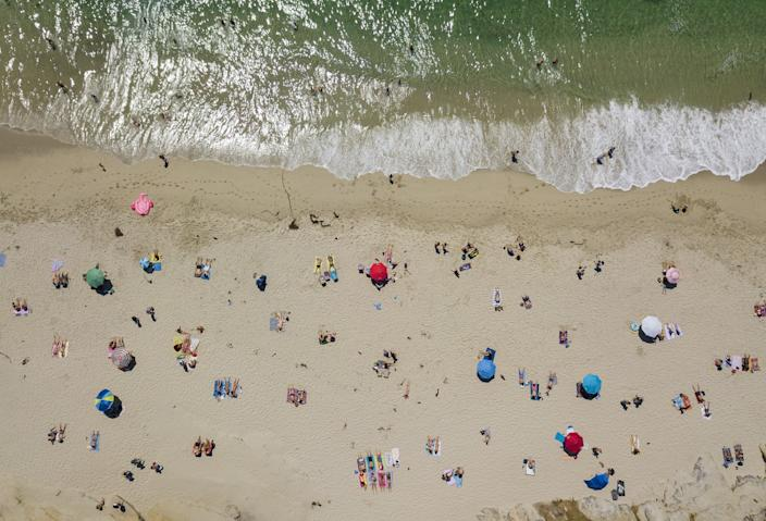 """Believe it or not, this picture was taken before social distancing. Windansea Beach, La Jolla, is shown on Aug. 19, 2019. <span class=""""copyright"""">(K.C. Alfred/The San Diego Union-Tribune)</span>"""