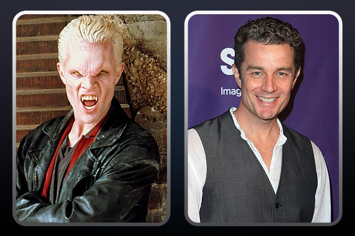 """<a href=""""/james-marsters/contributor/684177"""">James Marsters</a>  (""""Spike"""") — THEN: The vampire was known for his spiky blonde hair and various roles from villain to love interest. He died a hero in the series finale and was resurrected for the show """"<a href=""""/angel/show/13"""">Angel</a>."""" // NOW: The actor/musician recently appeared on """"<a href=""""/caprica/show/39945"""">Caprica</a>"""" and """"<a href=""""/hawaii-five-o/show/46551"""">Hawaii 5-0</a>."""" He'll also stop by The CW to play Charisma Carpenter's husband on an episode of """"<a href=""""/supernatural/show/37502"""">Supernatural</a>."""""""