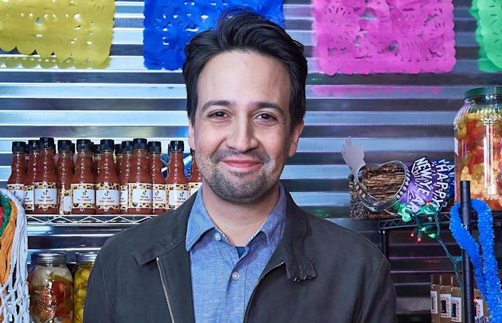 Lin-Manuel Miranda at the Warner Bros. Pictures trailer launch event for