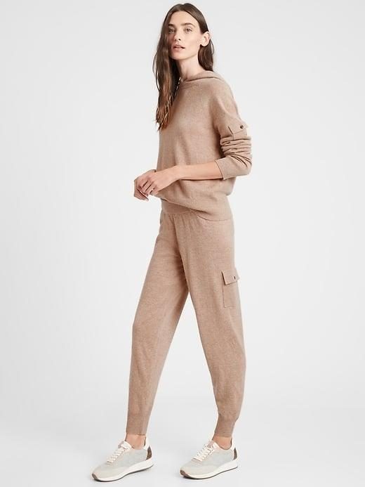 <p>It's simply absolutely impossible to find a softer pant than the 100-percent cashmere <span>Banana Republic Cashmere Cargo Jogger</span> ($249).</p>