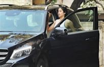 SUVs are always preferred for their presence and practicality hence Janhvi Kapoor also uses a blue Mercedes SUV. This is the GLE and the one she has is the 250d variant.
