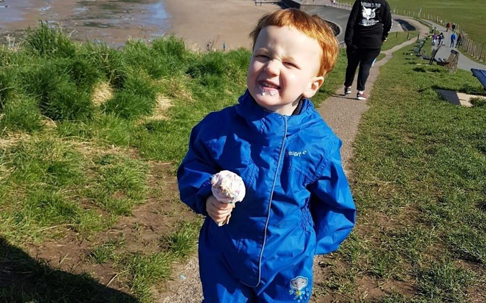 The parents of George Arthur Hinds, aged two years and 10 months, paid tribute to their 'beautiful little angel'
