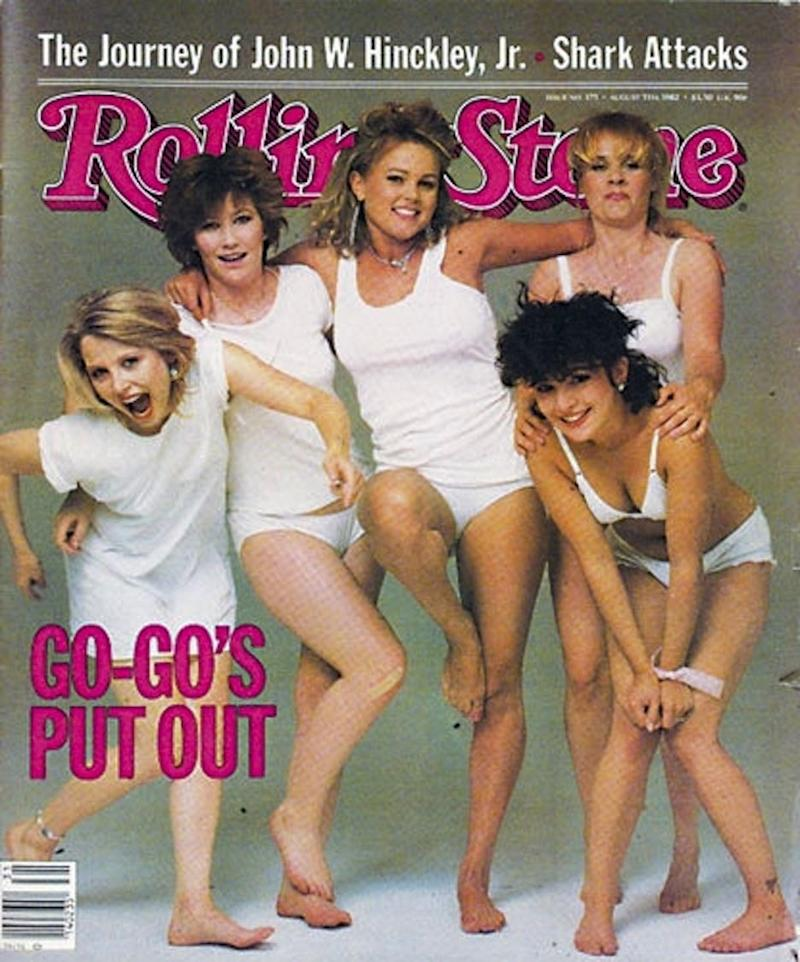 The Go-Go's on the cover of Rolling Stone, 1982. (Photo: Annie Liebowitz/Rolling Ston)