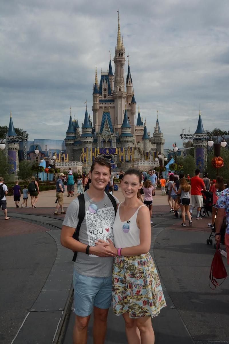David Mitchell with his wife Alice on their Disney honeymoon. (Photo courtesy of David Mitchell)