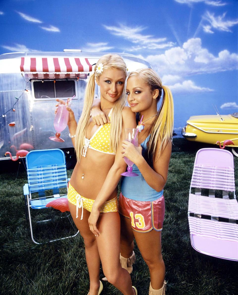 <p>Bikinis, silk shorts, and pigtails, how very '00s!</p>
