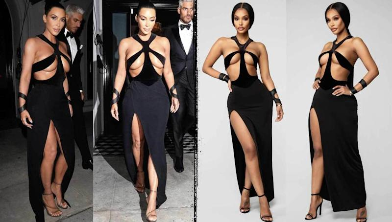 b5b1788eeaed Kim Kardashian Rips Websites for Selling Knockoff Dress, Model's ...