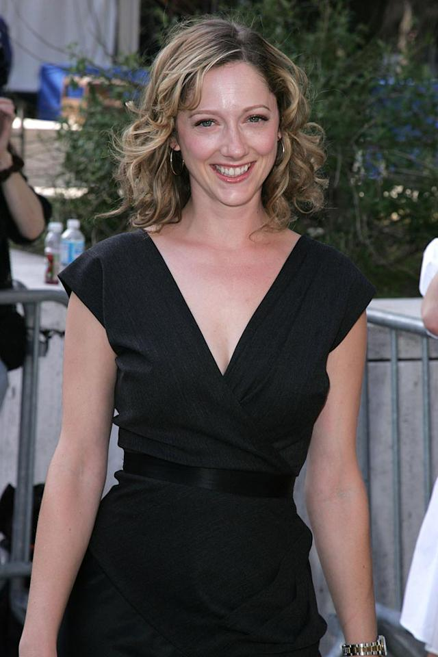 """Miss/Guided"" actress Judy Greer demonstrates her fashion sense with this lovely black wrap dress. James Devaney/<a href=""http://www.wireimage.com"" target=""new"">WireImage.com</a> - May 15, 2007"