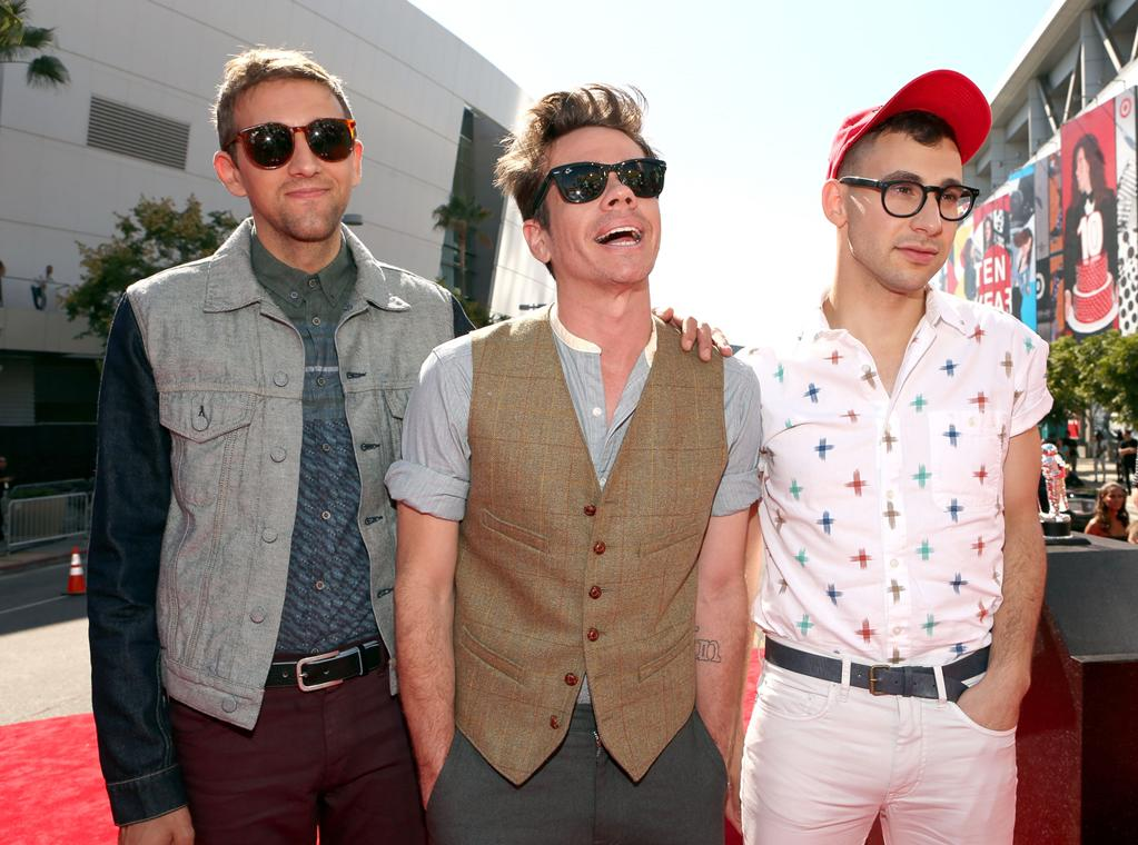 """Fun. sure has a, well, fun sense of style. The """"We Are Young"""" trio, who are nominated for two awards, hit their very first VMAs in an array of mismatched outfits."""