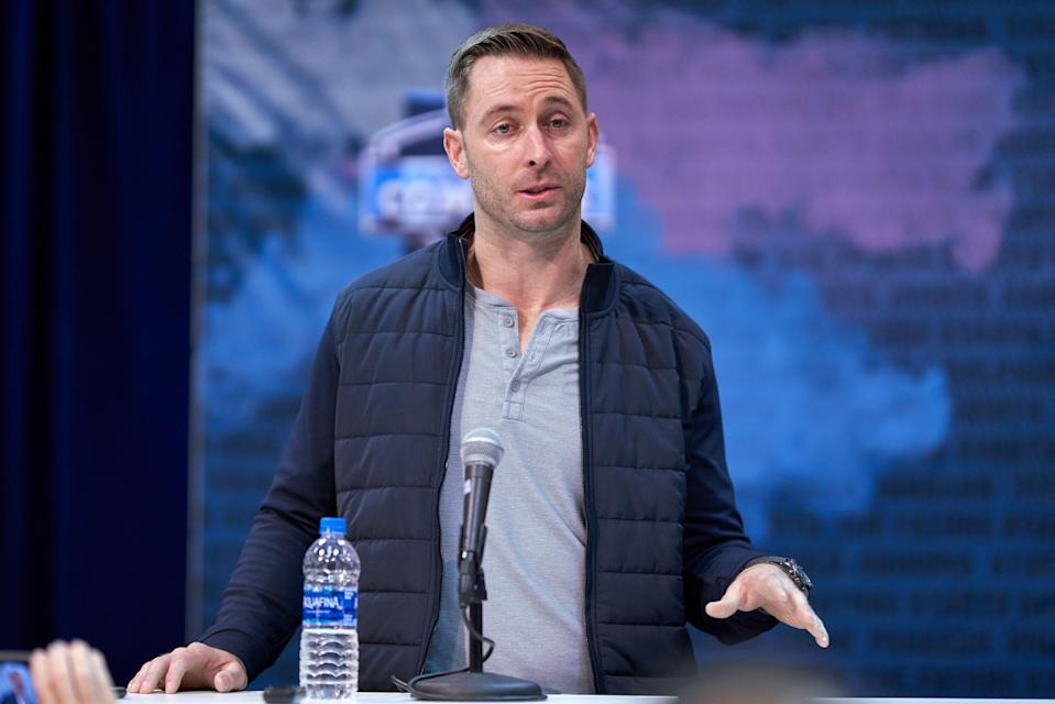 Kliff Kingsbury was wowed by the combine, but insists that he and the Cardinals haven't made any decisions about the No. 1 pick yet. (Photo by Robin Alam/Icon Sportswire via Getty Images)