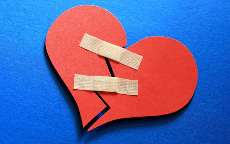 A new study has concluded that not even the clock can always mend a broken heart - Alamy