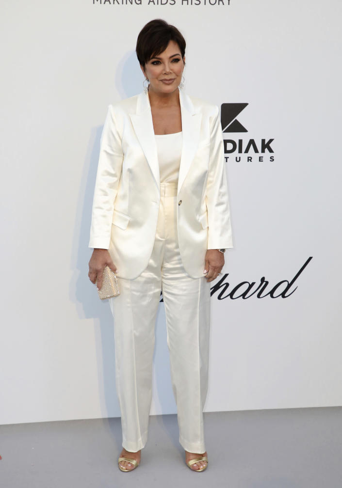 FILE - Kris Jenner poses for photographers upon arrival at the amfAR, Cinema Against AIDS, benefit during the 72nd international Cannes film festival, in Cap d'Antibes, southern France on May 23, 2019. Jenner turns 65 on Nov. 5. (Photo by Vianney Le Caer/Invision/AP, File)