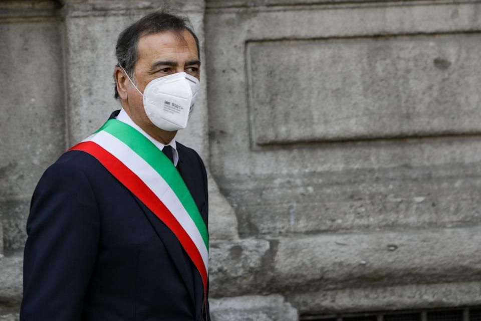 Beppe Sala, Mayor of Milan, during the celebrations for April 25th, the day of Liberation from the Fascist regime, April 25 2020 (Photo by Mairo Cinquetti/NurPhoto via Getty Images) (Photo: NurPhoto via Getty Images)
