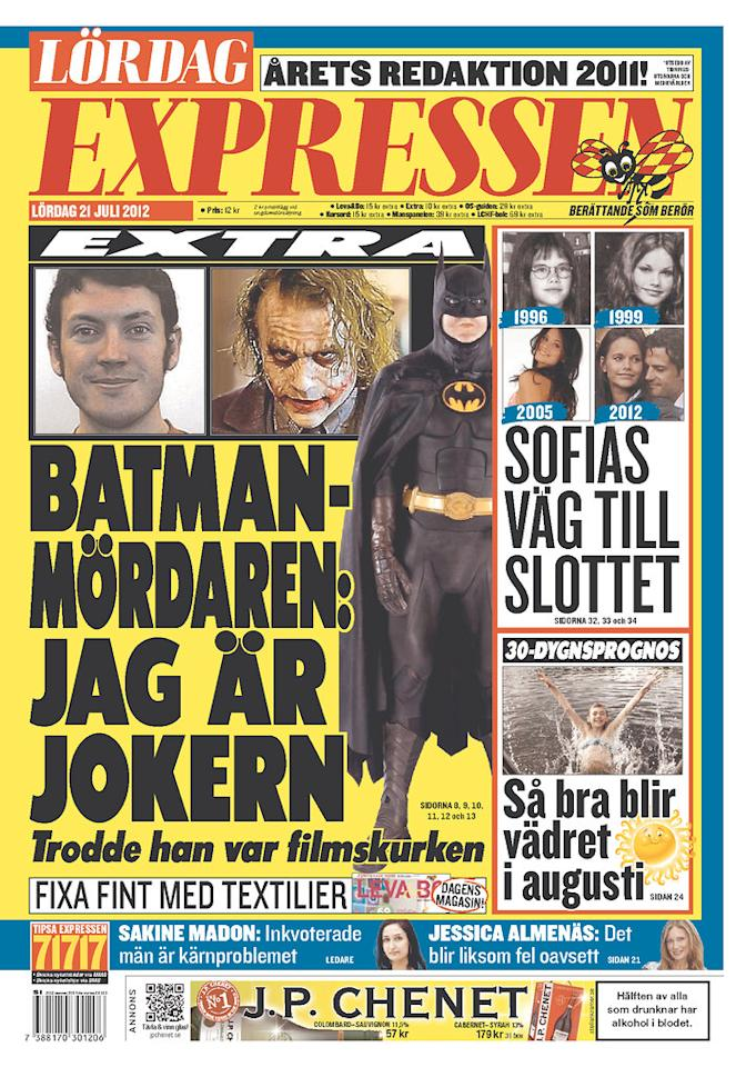 Expressen, Stockholm, Sweden, July 21, 2012