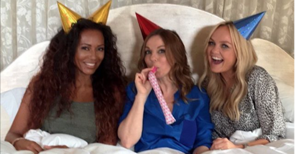 Mel B., Geri Halliwell and Emma Bunton reformed as a three-piece under the name 'GEM' (Copyright: Instagram/TheRealGeriHalliwell)