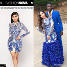 """<p>18-year-old Nazmayde Castillo from Birmingham, Alabama is going viral for her insane DIY prom dress. The super cheap dress started as a mini from Fashion Nova and her boyfriend MJ Johnson actually found it for her (prom date goals!). </p><p>""""I found it on @fashionnova for her and she had the idea to add flowers at the bottom,"""" he wrote on Instagram. """"$50 dress [and] flowers was all it took."""" </p><p><strong>Get her look:</strong> <em>Brocade Sequin Dress, $35, Fashion Nova</em></p><p><a href=""""https://www.fashionnova.com/products/remix-sequin-dress-royal"""" rel=""""nofollow noopener"""" target=""""_blank"""" data-ylk=""""slk:SHOP HERE"""" class=""""link rapid-noclick-resp"""">SHOP HERE</a></p>"""