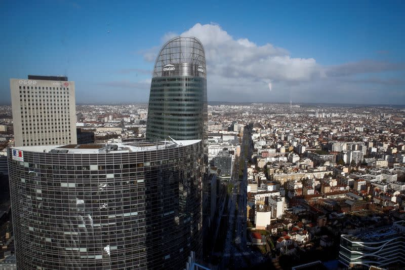 FILE PHOTO: The Engie tower is seen in La Defense business district in Courbevoie near Paris